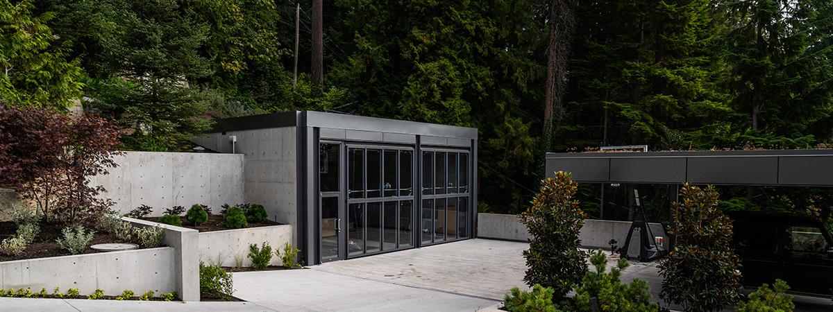 Vancouver home garage with bi-fold doors