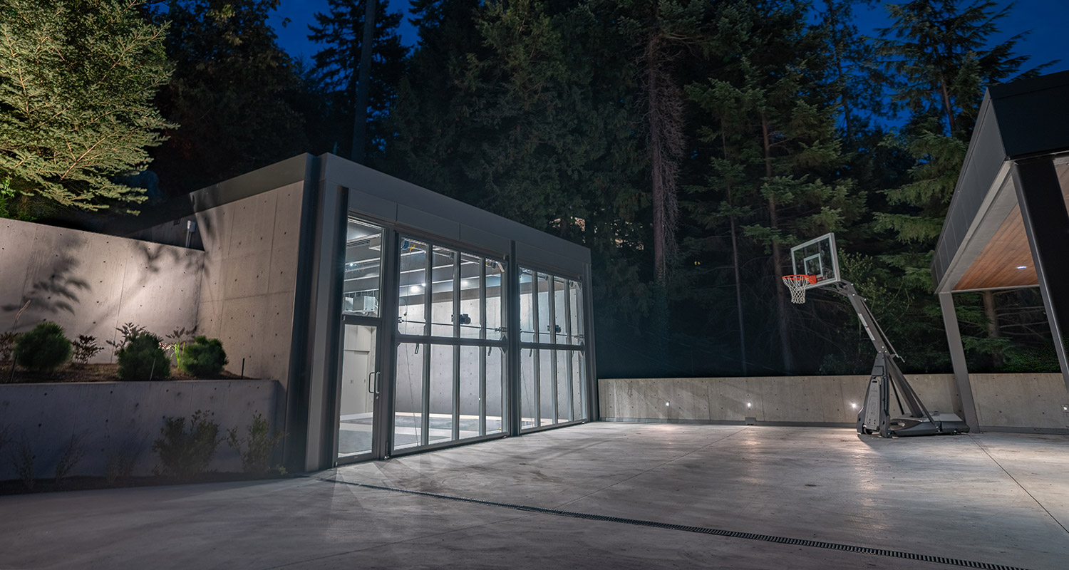Vancouver home garage with bi-fold doors